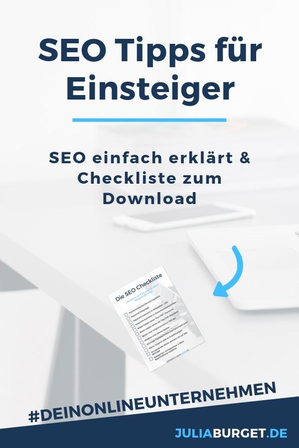 SEO Tipps für Blogger und deine Webseite. In diesem Beitrag wird SEO einfach erklärt, inkl. SEO Checkliste zum Herunterladen. SEO für Anfänger. SEO Tipps für tolle Suchergebnisse in einer Suchmaschine. Wenn du die grundlegenden SEO Tipps für deine Webseite beachtest, kannst du viele Menschen mit deinen Inhalten erreichen. Blog Tipps und Reichweite aufbauen für Blogger.  #blogtipps #seotipps #seo