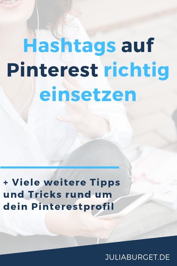 So setzt du Hashtags auf Pinterest richtig ein. In diesem Beitrag zeige ich dir, wie Pinterest Hashtags funktionieren, wie viele Hashtags du auf Pinterest setzen solltest und warum du deine alten Pins auf keinen Fall umbeschriften musst. Viel Erfolg mit diesen Tipps für Pinterest für Unternehmen, Pinterest für Anfänger und Pinterest für Blogger #bloggertipps #pinteresttipps #vomblogindieselbststaendigkeit #blogtipps #onlineunternehmen