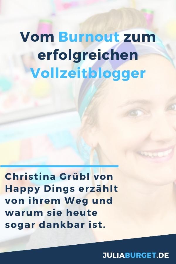 NEUE FOLGE - DEIN ONLINE UNTERNEHMEN Ein Burnout hat ihr gesamtes Leben verändert, doch sie hat sich davon nicht stoppen lassen. Ganz im Gegenteil, sie hat ihre Geschichte in etwas Wertvolles für viele andere Menschen verwandelt. ✨ Christina Grübl, Gründerin des Blogs Happydings.net, erzählt in diesem Interview, wie sie sich schließlich mit ihrem Blog selbstständig gemacht hat und dadurch ihre wahre Leidenschaft zum Beruf gemacht hat. #Deinonlineunternehmen #blogtipps #blogger_de
