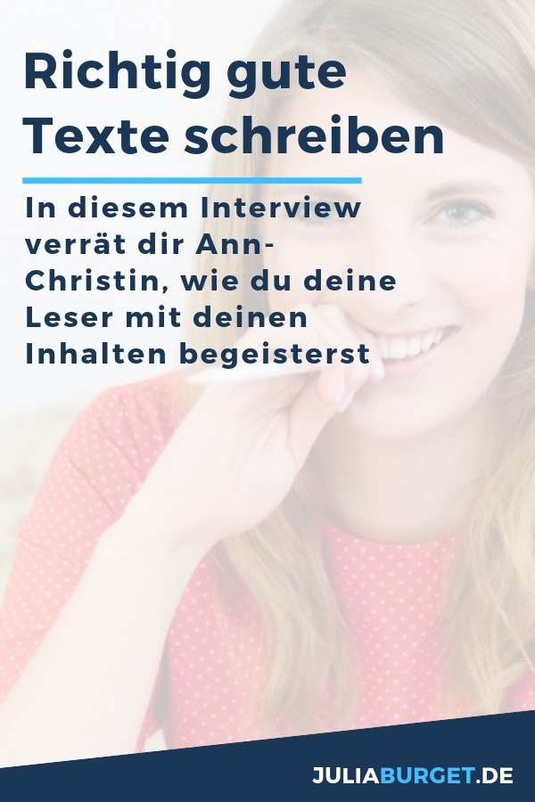 Richtig gute Texte schreiben mit Ann-Christin Schmitt-Rogalla