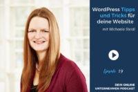 WordPress Tipps und Tricks mit Michaela Steidl