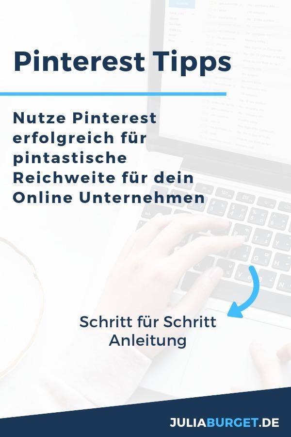 Nutze Pinterest gezielt für mehr Reichweite und echte Blogleser. Eine zuverlässige Traffic-Quelle ist die Basis für einen erfolgreichen Blog, eine erfolgreiches Online Unternehmen oder einen Onlineshop. In diesem Pinterest Kurs erfährst du Schritt für Schritt, wie du Pinterest für dein Unternehmen geschickt einsetzen kannst. Pinterest Tipps für Anfänger und Fortgeschrittene. Starte jetzt mit deinem Pinterest Profil durch! #blogtipps #bloggertipps #selbstständig