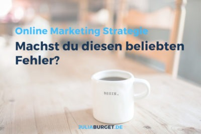 Online Marketing Strategie aufsetzen