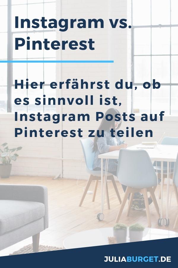 Instagram vs. Pinterest. Was ist die richtige Plattform für dich und deine Ziele? Wie teilt man Instagram Posts automatisch auf Pinterest? Instagram-Pinterest-verbinden? Das erfährst du alles in der neuen Pinterest Podcast-Folge. Pinterest für Unternehmen, Pinterest für Anfänger, Pinterest richtig nutzen. So setzt du dein Pinterest-Marketing gezielt für deinen Erfolg und Reichweite ein. #pinterestmarketing #blogtipps #deinonlineunternehmen