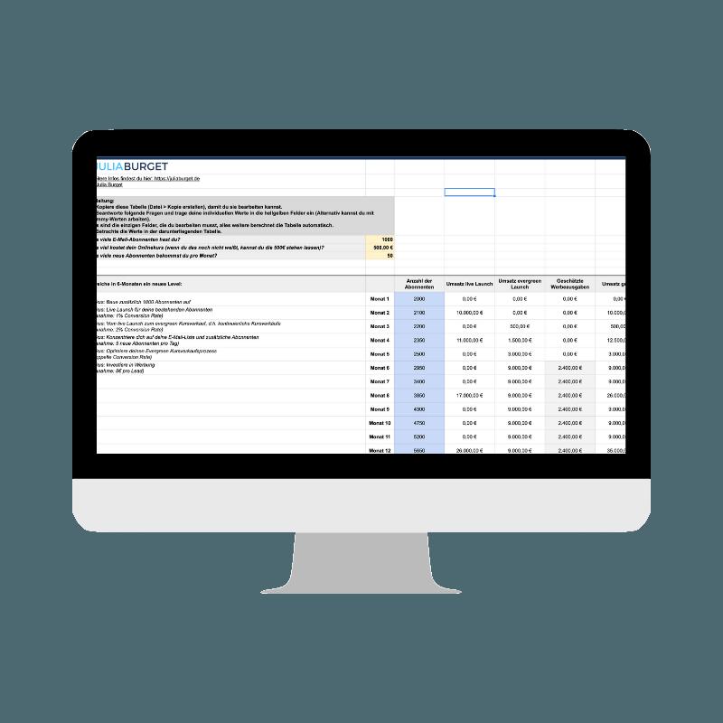 Kalkulation Onlinekurs verkaufen