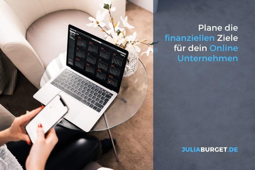 Finanziellen Ziele Online Unternehmen Businessplan