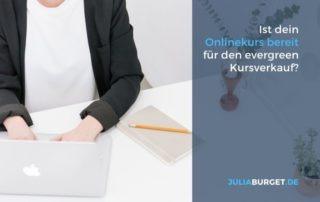 Onlinekurs verkaufen evergreen Verkaufsprozess